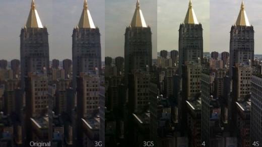 iPhone classic bis iPhone 4S: iPhone Kameras im Direkt-Vergleich