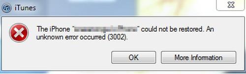 Problemlösung: iTunes Fehler 3002 und iOS 5