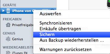 1. Schritt: Backup!