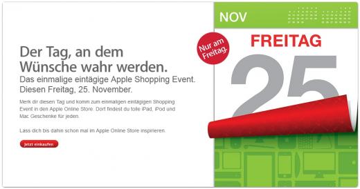 Black Friday: Apple kündigt weltweite Preisreduktionen für den 25. November an