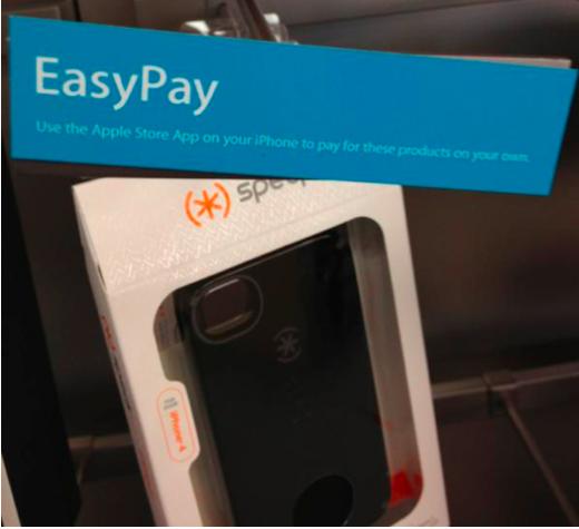EasyPay: Ein etwas zu früh angebrachtes Hinweisschild in einem US-Apple Store