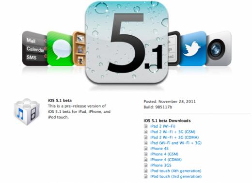 iOS 5.1: Hinweise auf iPhone 5, iPad 2,4, iPad 3 und AppleTV 3