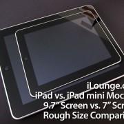 Größenvergleich: iPad Mini vs. iPad (Mockup)
