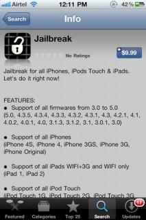 "Screenshot: ""Jailbreak"" App im AppStore"