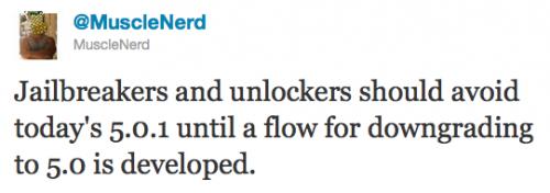 MuscleNerd warnt: Nicht auf iOS 5.0.1 upgraden!