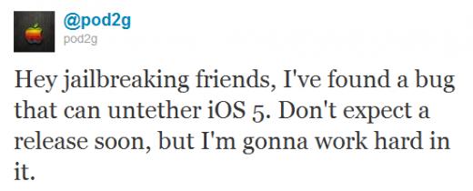pod2g: iOS 5 untether Exploit gefunden