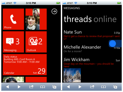 LinkTipp: Windows Phone am iPhone testen
