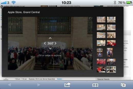 Grand Central Apple Store: Interaktives 360 Grad Panorama