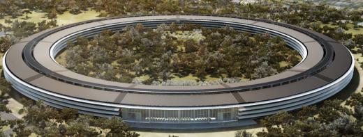Apple Mutterschiff: Neue Renderings, Pläne für größtes Solarstrom-Dach der USA