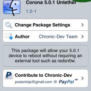 Corona: Untethered Jailbreak Paket für iOS 5.0.1 in Cydia