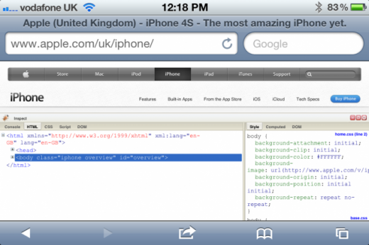 HowTo für Web-Entwickler: Firebug am iPhone und iPad benutzen