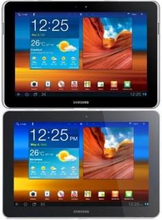 Galaxy Tab 10.1 (oben) und das modifizierte Galaxy Tab 10.1N (unten)
