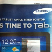 "Samsung Galaxy Tab Werbung aus Australien: ""The tablet Apple tried to stop"""