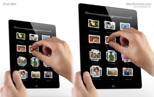 iPad Mini Mockups: Wie würde ein 7-Zoll iPad aussehen?
