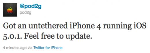Pod2g bestätigt: Untethered Jailbreak auch für iPhone 4 mit iOS 5.0.1