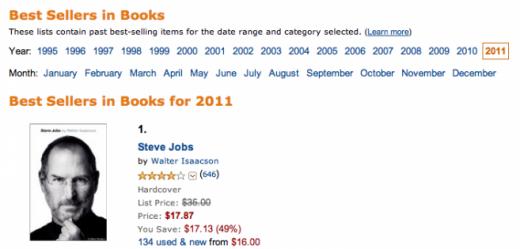 Steve Jobs Biographie ist Amazon's Bestseller des Jahres