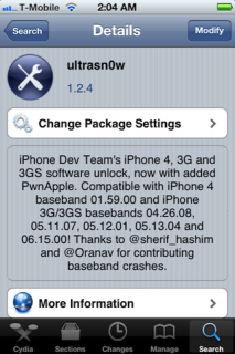 iPhone 4 Unlock: Ultrasn0w Update für iOS 5.0.1