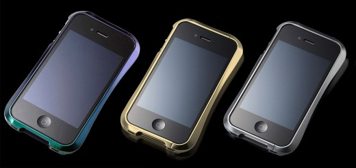 StyleMyPhone präsentiert Draco Design: iPhone Bumper aus Flugzeug-Aluminium (Draco-IV-JewelBeetle_Gold_Gray)