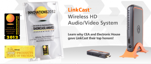 Atlona LinkCast: Kabelloser HDMI-Stick für iPhone und iPad [CES 2012]