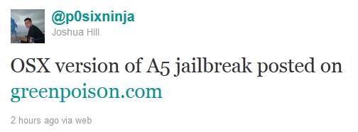 p0sixninja: Greenpois0n jailbreakt jetzt auch iPhone 4S und iPad 2!