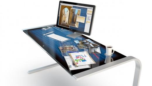 iDesk Konzept: Apple Touch-Schreibtisch voller Hightech