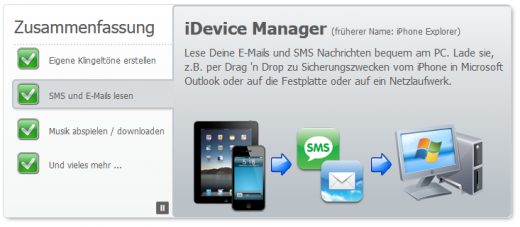 iDevice Manager: Update für Windows-Tool