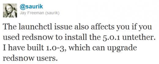 iOS 5.0.1. Untethered Jailbreak: Corona Update aufgrund eines Bugs