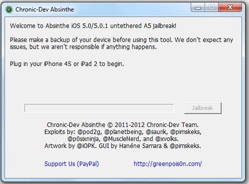 Absinthe jetzt auch für Windows (iPhone 4S und iPad 2 untethered Jailbreak)