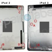 iPad 2 und iPad 3 Rückseite im Vergleich