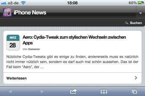 SwitcherLand: Cydia-Tweak zum Wechseln von Apps im Landscape-Modus