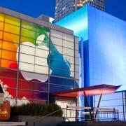 Erste Vorbereitungen für iPad 3 Event: Yerba Buena Center dekoriert