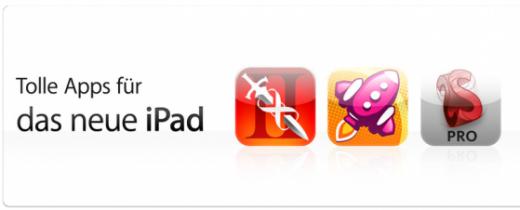 neues iPad: Apps mit hoher Auflösung