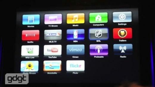 AppleTV 3G mit neuem, überarbeitetem Interface