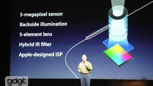 iPad 3 mit neuer Kamera: 5 Megapixel, backside illuminated, Linsensystem mit 5 Elementen, ...