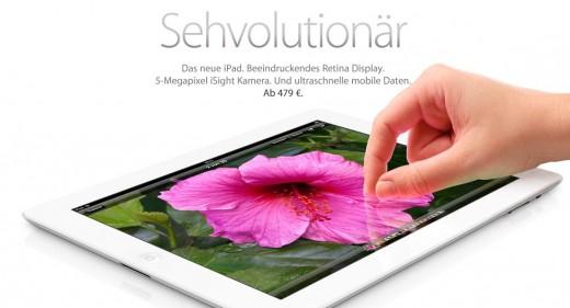 iPad 3: Jetzt mit Retina Display, A5X-Chip, LTE und 5 Megapixel Kamera