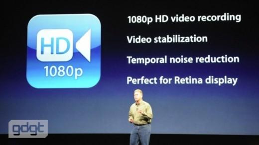 iPad 3: 1080p HD Videoaufzeichnung mit Bildstabilisierung und extra Noise-Reduktion