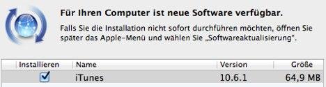 iTunes: Update 10.6.1 bringt Fehlerbehebungen