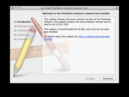Flashback: Apple bietet Tool zur Entfernung als Download an