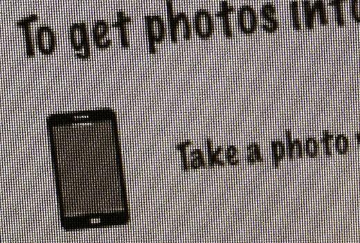 """Ein """"komisches"""" iPhone-Symbolbild (iPhone 5 Design?) in der Fotostream-Erklärung"""