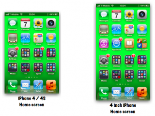 iPhone 5: So würde der Homescreen auf einem 4-Zoll Display aussehen