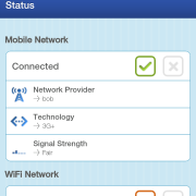 XYFI 3G WLAN Router: Screenshot des mobilen Web-Interfaces