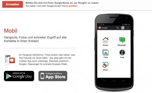 Google+ App für iOS: Neues Update als Download freigegeben