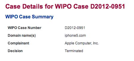 iPhone5.com scheint von Apple nun reserviert