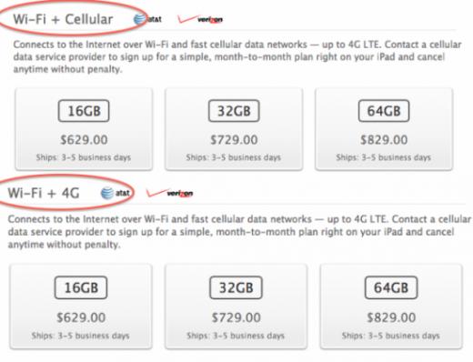 iPad 3 Cellular: 4G bekommt neuen Namen