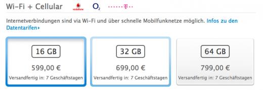 iPad 3 Cellular: Nun auch in Deutschland