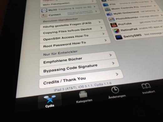 iPad 3 Jailbreak mit iOS 5.1.1 bereits erfolgreich