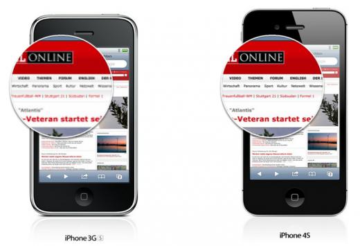 Apple bewirbt Retina-Display auf Extra-Seite