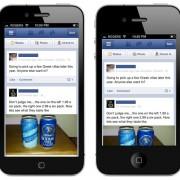 Mockup: Facebook auf einem 4-Zoll Display (OverdriveDesign)