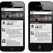 Mockup: LinkedIn auf einem 4-Zoll Display (OverdriveDesign)