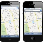 Mockup: Maps auf einem 4-Zoll Display (OverdriveDesign)